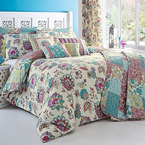 Dreams 'n' Drapes Marinelli 3-piece Duvet Cover Set, Teal - King