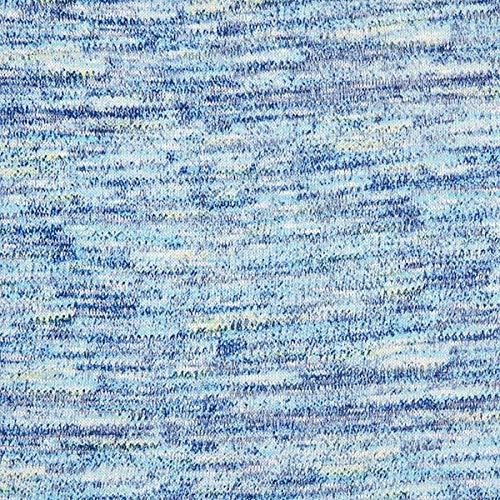 Fabulous Fabrics Leichter Viskose Strick Melange - blau - Meterware ab 0,5m - zum Nähen von Strickjacken und Tops - Leicht Gerippte Strickjacke