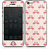 Apple iPhone 5 Case Skin Sticker aus Vinyl-Folie Aufkleber Flamingo Pink Sommer