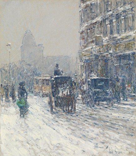 Das Museum Outlet-Winter, New York (Winter Morgen auf Broadway), 1904-Poster (61x 81,3cm)
