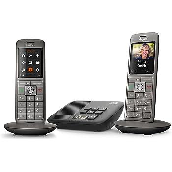 Gigaset CL660A Duo - Téléphone fixe sans fil - Répondeur - 2 combinés - Gris  Anthracite 8ec19ae24820