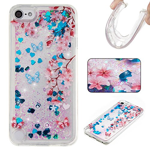 Ooboom® iPod Touch 6/5 Hülle TPU Silikon Bumper Schutzhülle Handy Tasche Case Cover mit Funkeln Glänzend Bling Glitter - Lila Bär (Case Lila Touch Glitter 4 Ipod)