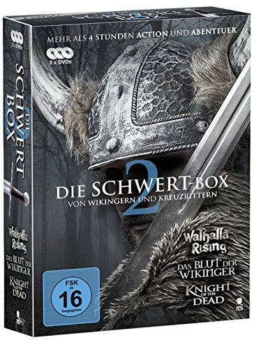 Die große Schwert-Box 2 - 3 spannende Ritter-Sagen in einer Box (Walhalla Rising, Das Blut der Wikinger, Knight of the Dead) [3 DVDs]