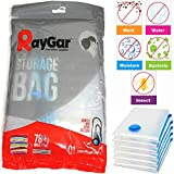 RayGar 6 Bags Pack Vacuum Compressed Storage Saving Bags 90 X 50 cm Clothing, Duvets, Bedding, Pillows, Curtains, Travelling - New