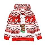 Lenfesh Kinder Jungen Mädchen Weihnachten Loose Snow Floral Print Hoodies Bluse Top Shirt Langarm Cartoon Weihnachten Print Pullover Sweatshirt Tops