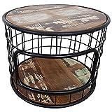 Indoortrend.com Couchtisch Wohnzimmer-Tisch Sofatisch Loungetisch Massiv-Holz schwarz Rund 60 cm