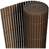 [neu.haus] Estera de PVC (90x300cm) (braun) (marrón) protector contra el viento - pantalla de privacidad, para jardín, balcón y terraza
