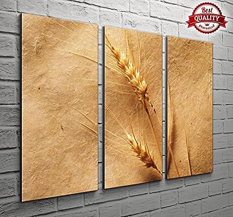 3Panel Wand-Dekor Getrocknete Blätter Landschaft Leinwand Bilder für Ihr Wohnzimmer