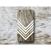 Weiß Chevron Holz Print Hülle Handyhülle für iPhone 4 4s 5 5se se 5C 5S 6 6s 7 Plus iPhone 8 Plus iPod 5 6