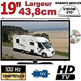 COMBI TV/DVD 19'' CAMPING CAR CAMION 12V 220V MANN19DVDHD