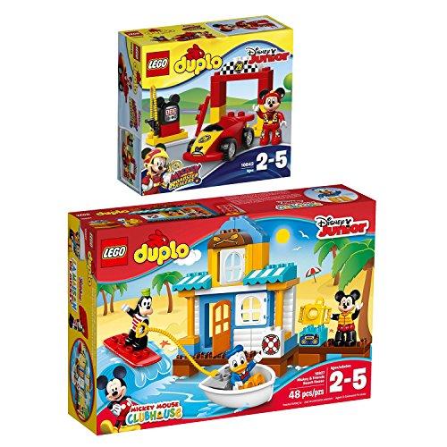 Lego DUPLO 2er Set 10843 10827 Mickys Rennwagen + Mickys Strandhaus