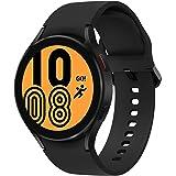 Samsung Galaxy Watch 4 44 mm Smartwatch, gezondheidsbewaking, fitnesstracker, lange batterijduur, Bluetooth, zwart, 2021