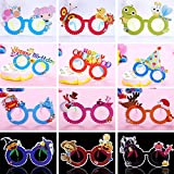 12 Pcs / lot Funny Cartoon Paper Glasses Kids Gift Photo Booth Props Halloween Décoration de fête de noel