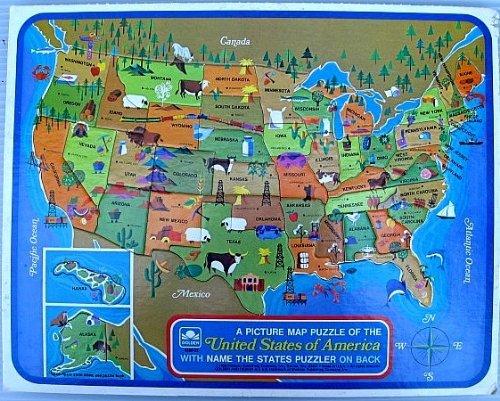 Golden Unisex ein Bild Map Puzzle Der Vereinigten Staaten von Amerika: weitere State Formen und Hauptstädte; Marke; Western Publishing CO 1968