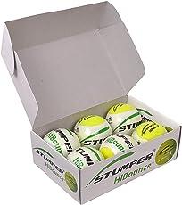 ARFA Rubber Stumper Green Hi-Bounce Cricket/Tennis Balls (Green) - Pack of 6