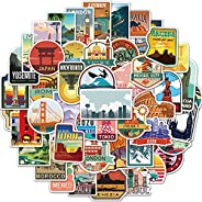 Vintage Outdoor Travel Stickers of 50 Vinyl Tourism Decal Merchandise Laptop Stickers for Laptops, Computers,
