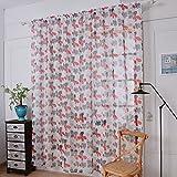 Best F&W String Lights - Gaddrt® 1 Panel Window Curtain Lavender Tulle Door Review