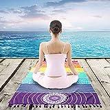 Strandtuch Indische Tapisserie Yoga Handtuch, Hippie Rainbow Chakra Tapisserien Böhmischen Mandala Wandbehang Werfen Strand Matte