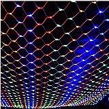 FFJTS Colorato all'aperto 8 modalità resistente alle intemperie commerciale multi funzione festival decorazione netto luminoso luce gocce Super luce fata netto , 2*2m