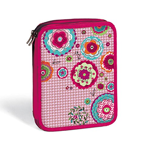 plumier lapices doble HIPPY FLOWER