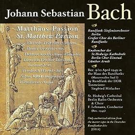 St. Matthew Passion, BWV 244: Part I: Recitative: Da versammleten sich die Hohenpriester (Evangelist)