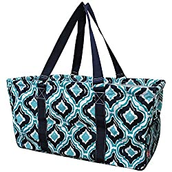 Quatrefoil Ikat Print N.Gil Utility Tote Shopping Bag