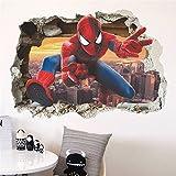thu Spiderman Super Héros Stickers muraux pour Chambre d'enfant Décoration Avenger Home Chambre à Coucher en PVC décor Dessin animé Film Art Stickers Mural 14127