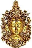 StatueStudio vzi031Messing lotuxo-MAA-Tara Wanddekoration zum Aufhängen Maske