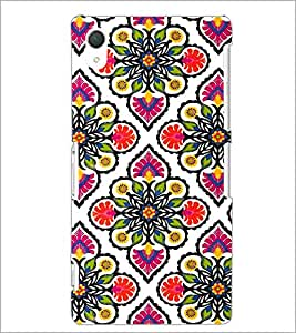 PrintDhaba Floral Design D-2045 Back Case Cover for SONY XPERIA Z2 (Multi-Coloured)