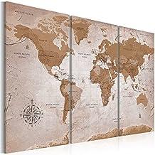 murando - Cuadro 120x80 cm - Mapamundi - Cuadro su lienzo tejido-no tejido -