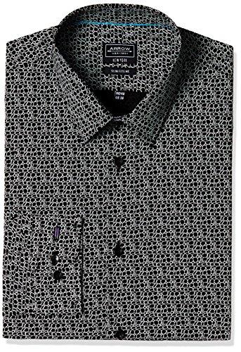Arrow New York Men's Formal Shirt (8907538022554_ASTY1046_40_Black)