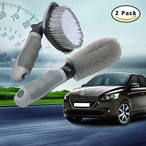 Boonor Auto Felgen Reifen Speichen Hand Wasch Bürste,Felgenbürste zur schonenden,Effektiven Reinigung Hochwertiger Felgen