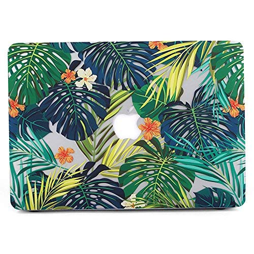 MacBook Pro 13 Hülle 2017 & 2016, L2W Matte Print Tropical Palm Blätter Muster Hülle für MacBook Pro 13 Zoll mit/ohne Touch Bar und Touch ID Shell Cover 13-Zoll 2017 & 2016 - Palm Blätter & Blume G