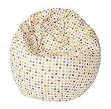 Joyfill Sitzsack mit Bezug, Stuhl für Kinder und Erwachsene, Weicher Stoff, 240L groß - 5536 Dots bunt