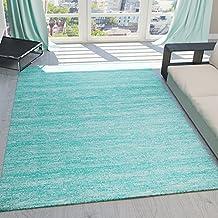 teppich kurzflor wohnzimmer meliert mehrfarbig beige braun trkis grau blau trkis - Wohnzimmer Teppich Turkis