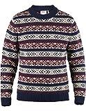 Fjällräven Övik Folk Knit Sweater Pullover Herren, Dark Navy, 2XL