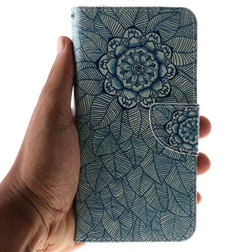 iPhone 7 Plus Custodia, SsHhUu Lusso Stylish MagneticoStand Card Slot PU Leather Flip Protettivo Portafoglio Slim Cover Case + Stylus Pen per Apple iPhone 7 Plus / iPhone 8 Plus 5.5 Fiore