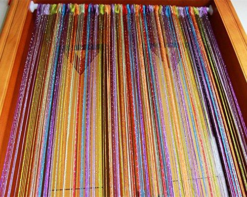 Cortina de alambre de plata multicolor,Granos de la cortina de la puer