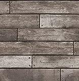 Brewster FD31290 Papier peint Motif planche en bois Argent