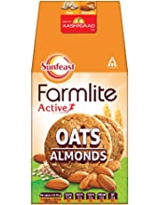 Sunfeast Farmlite Oats with Almonds Biscuits, 150g