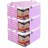 PrettyKrafts Presents Non Woven Saree Cover Storage Bags for Clothes Combo Offer Saree Organizer for Wardrobe/Organizers…