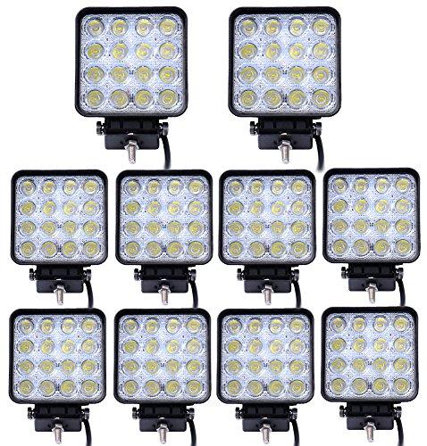 Preisvergleich Produktbild Kaleep LED Arbeitsscheinwerfer 48W 3800 Lumen 10 Stück