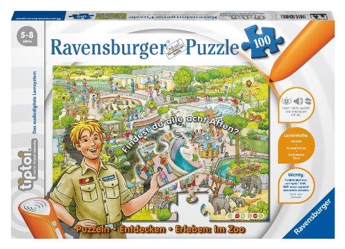 Ravensburger-00524-tiptoi-Puzzeln-Entdecken-Erleben-Im-Zoo