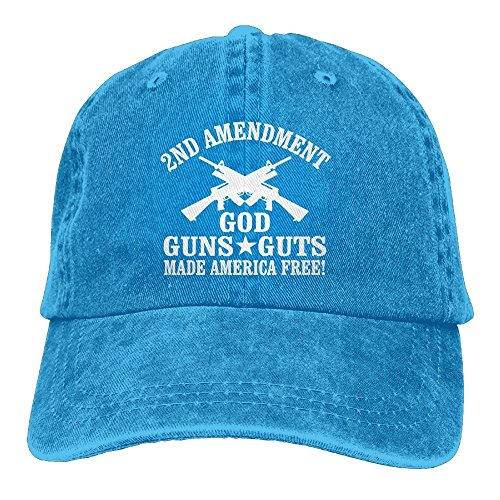(New pants Baseball Cap God Guns Guts Made America Free 2018 Vintage Adjustable Leisure Cap Dad Trucker Hat)