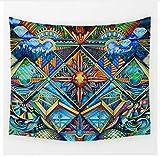 Yzrh Personnalisé Géométrique Irrégulier Hippie Mandala Motif Tapisserie Peinture Abstraite Art Tenture Murale Gobelin Salon Décor Artisanat B72