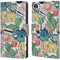 Official Micklyn Le Feuvre Lazy Afternoon A Chalk Pastel Illustration Patterns 2 Leather Book Wallet Case Cover For Sony Xperia Z5 Compact