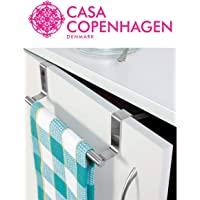 Casa Copenhagen Stainless Steel Over Cabinet Door Kitchen Towel Bar - Used as Hanger Over Storage Drawer - 2 cm/ 21cm/ 0.78 inch