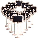 Confezione da 15, Wefond Mini carte di lavagna con supporto per etichettatura di promemoria, segnaposto di matrimoni, articol