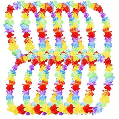 aiikränze Rüschen künstliche Seidenblumen Leis Künstliche Blumen Halsketten Stirnband Hals Ring für Party Zuhause Dekoration ()
