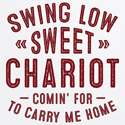 Swing Low Sweet Chariot T-Shirt, Herren Wei